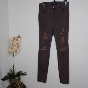 High waisted distressed fashion nova skinny jeans